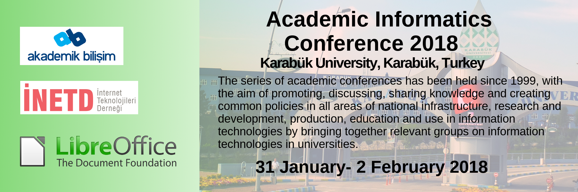 01 31Jan 02Feb2018 AcademiInformatics Conference2018 KarabukUnitersity EN